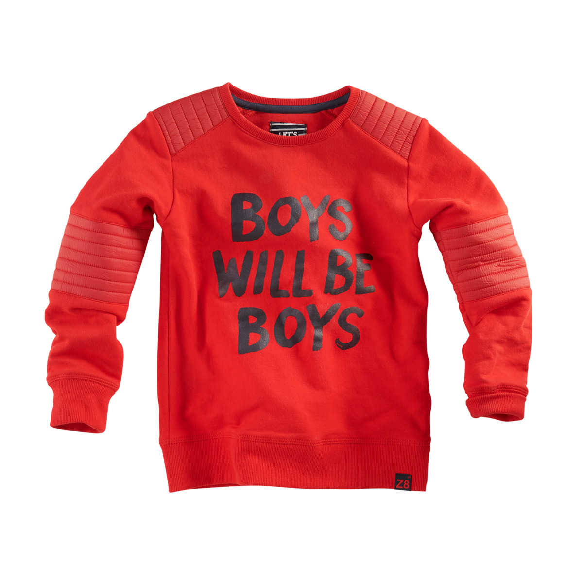 Z8 Kinderkleding.Z8 Sweater Basilis Red Pepper Koters Baby En Kinderkleding