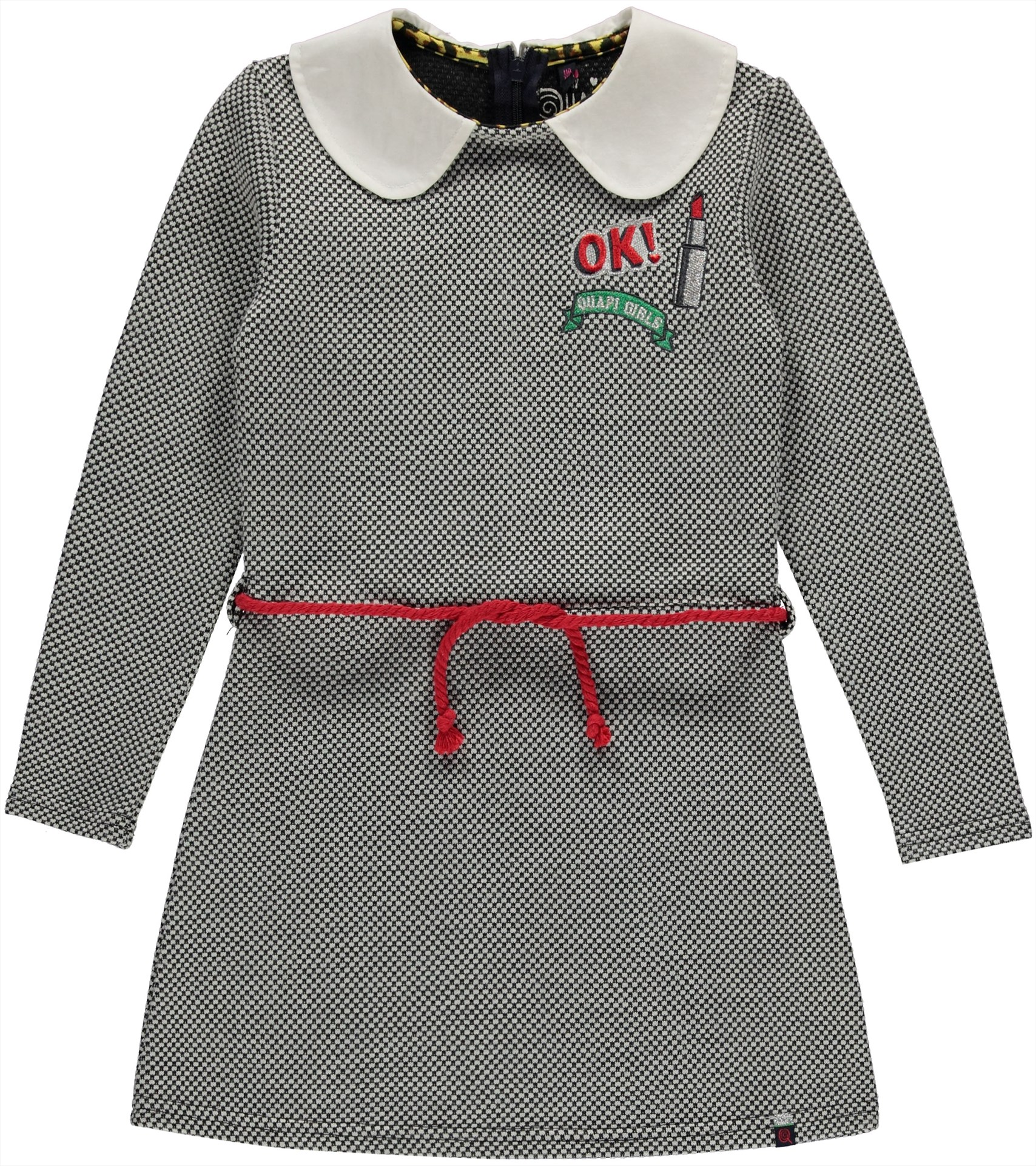 Kinderkleding Maat 98.Maat 98 104 Quapi Dress Grey Jaquard Koters Baby En Kinderkleding